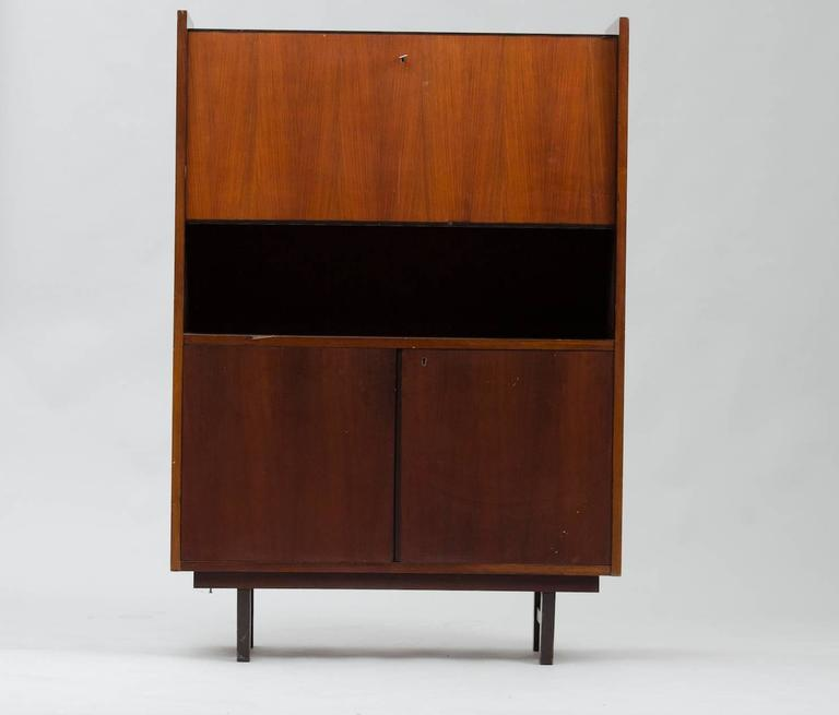 Italian rosewood high cabinet.