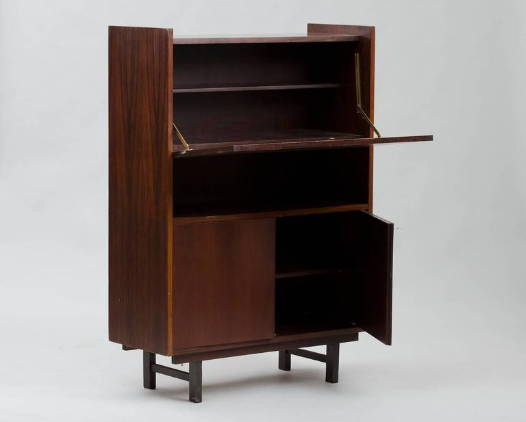 Mid-Century Modern Rosewood High Cabinet For Sale