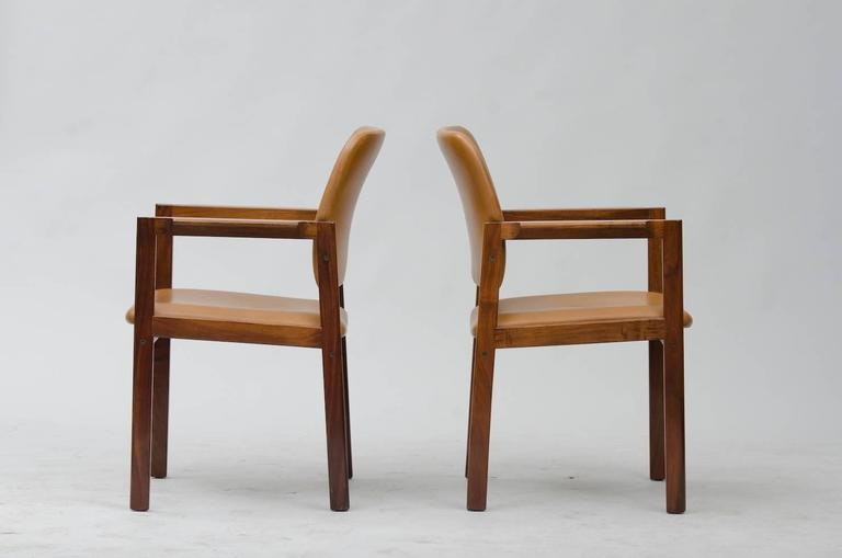 Scandinavian Modern Rosewood Armchairs Set of Six For Sale