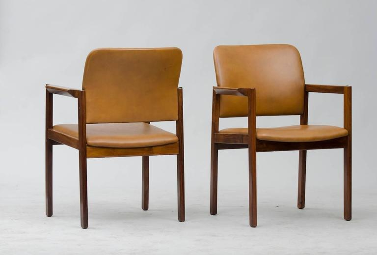 Danish Rosewood Armchairs Set of Six For Sale