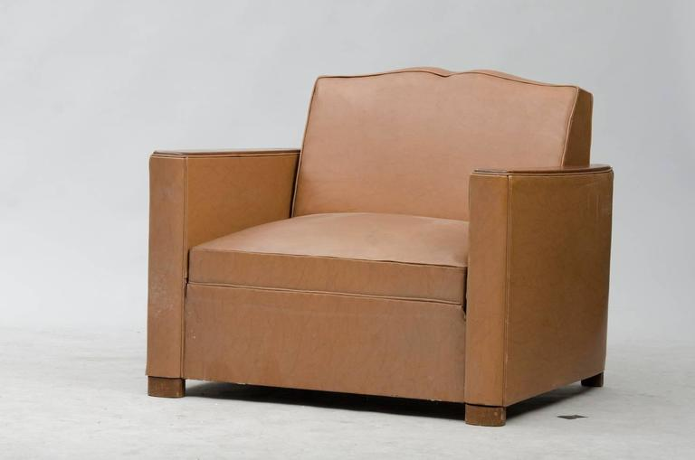 Art Deco Fauteuil Club Pair For Sale at 1stdibs