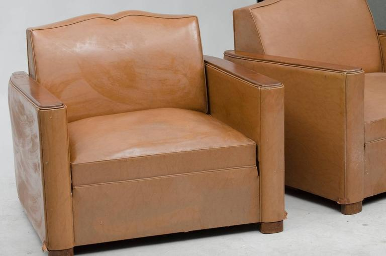 art deco fauteuil club pair for sale at 1stdibs. Black Bedroom Furniture Sets. Home Design Ideas