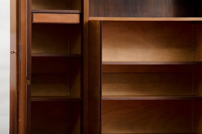 Varnished French Art Deco Cabinet or Bookcase For Sale