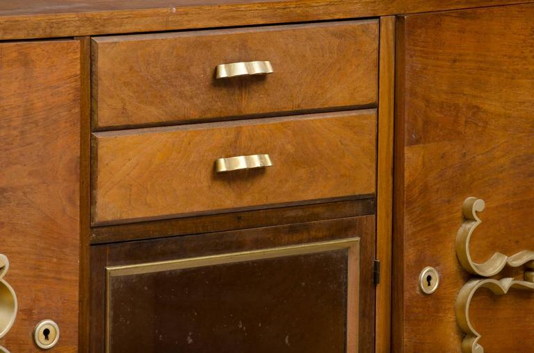 Art Deco Sideboard In Distressed Condition For Sale In Porto, PT