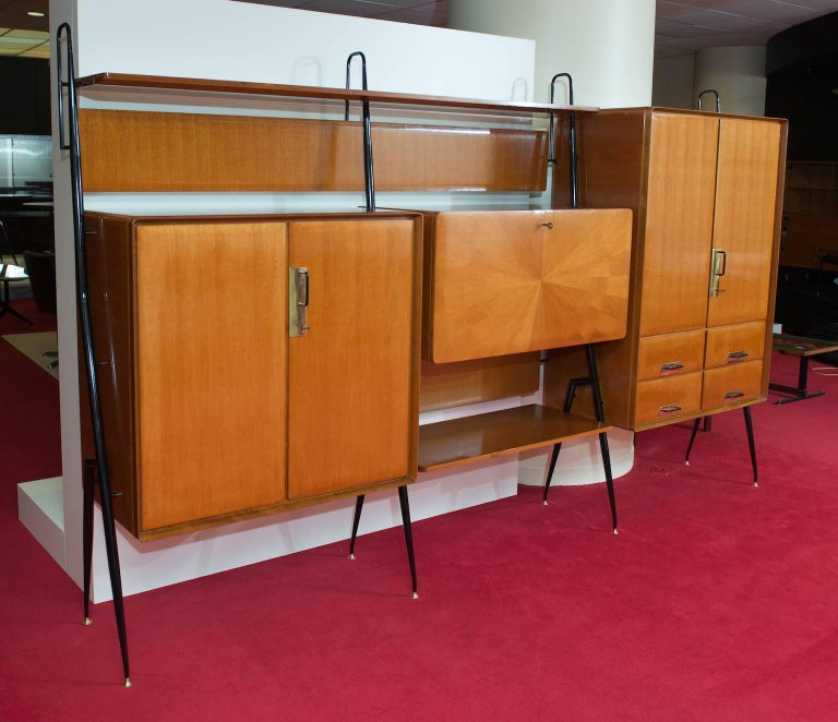 Mid-Century Modern Silvio Cavatorta Wall Unit For Sale
