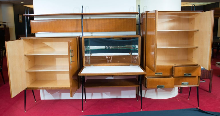 Silvio Cavatorta Wall Unit In Excellent Condition For Sale In Porto, PT