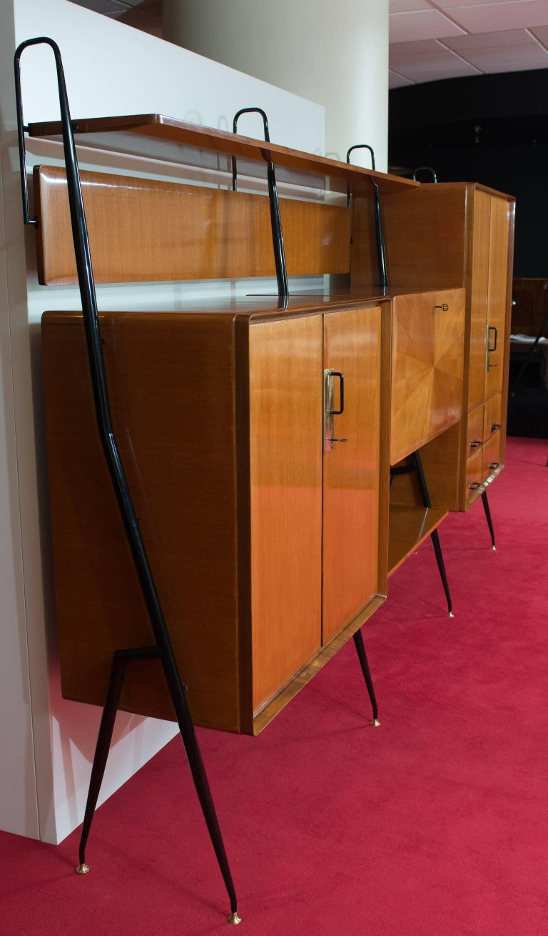 Italian Silvio Cavatorta Wall Unit For Sale