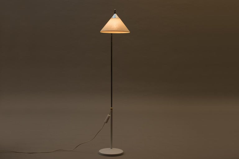 Scandinavian Modern Mid-Century Modern Adjustable Floor Lamp For Sale
