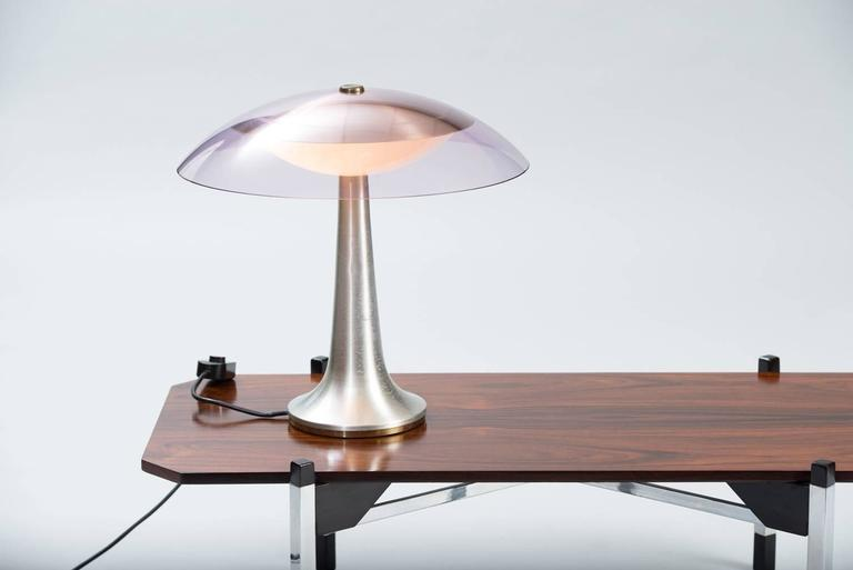 Brushed Stilux Milano Table Lamp For Sale