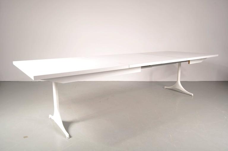 Mid-Century Modern Extendable Dining Table by George Nelson for Herman Miller, USA, circa 1960 For Sale