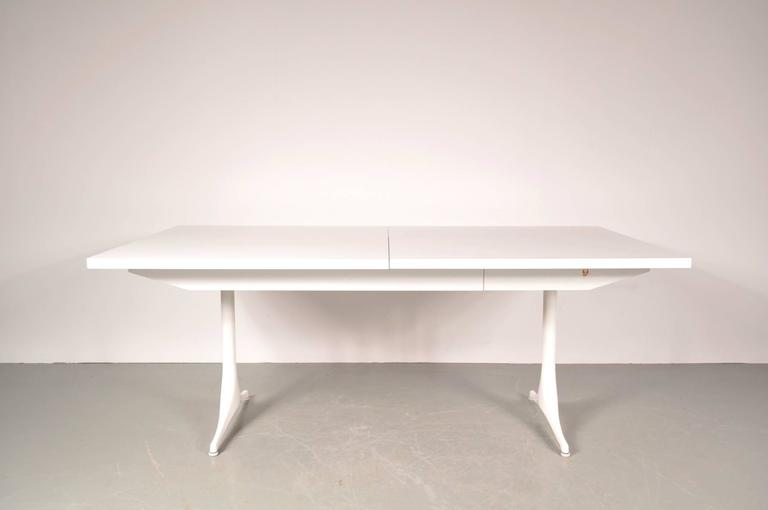 Laminated Extendable Dining Table by George Nelson for Herman Miller, USA, circa 1960 For Sale