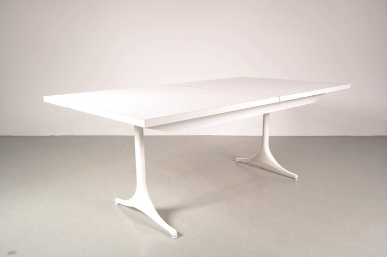 Mid-20th Century Extendable Dining Table by George Nelson for Herman Miller, USA, circa 1960 For Sale