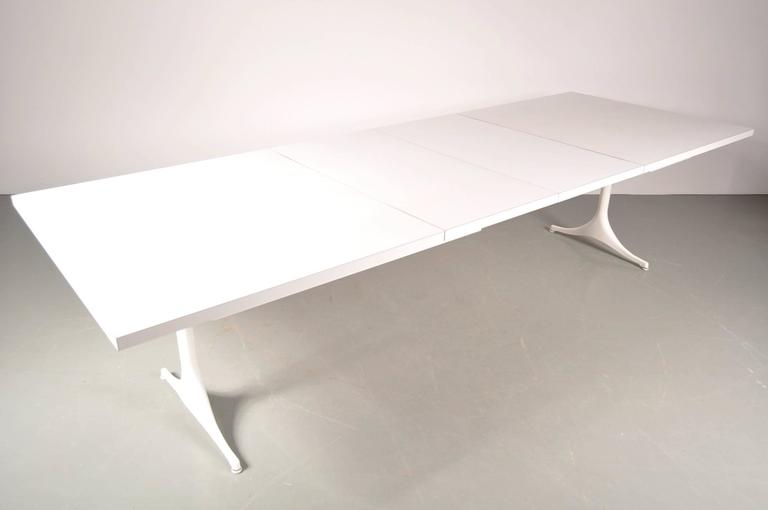 Aluminum Extendable Dining Table by George Nelson for Herman Miller, USA, circa 1960 For Sale