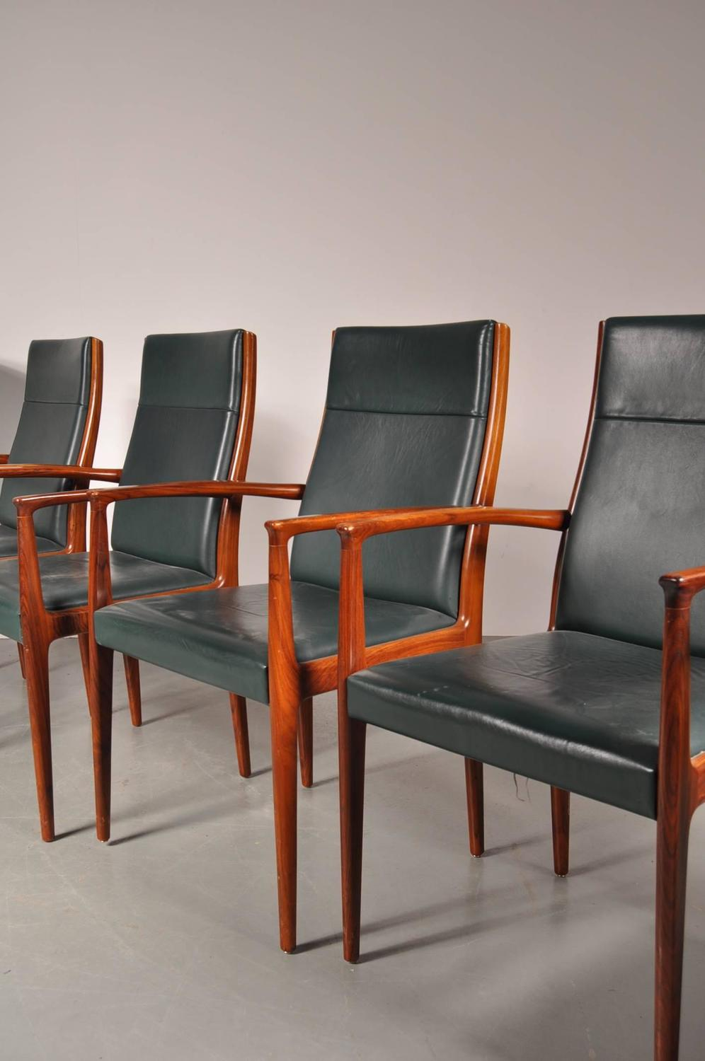 Set of six conference dining chairs for lübke germany