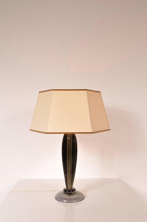Italian Table Lamp by Flavio Poli for Seguso, Italy, circa 1960 For Sale
