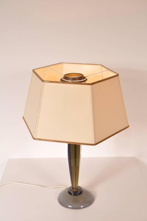 Table Lamp by Flavio Poli for Seguso, Italy, circa 1960 In Good Condition For Sale In Amsterdam, NL
