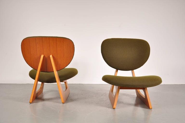 pair of teiza chairs by daisaku choh for tendo  japan