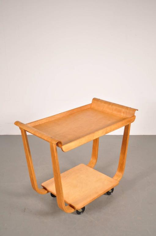 Dutch PB01 Trolley by Cees Braakman for Pastoe, Netherlands, circa 1950 For Sale