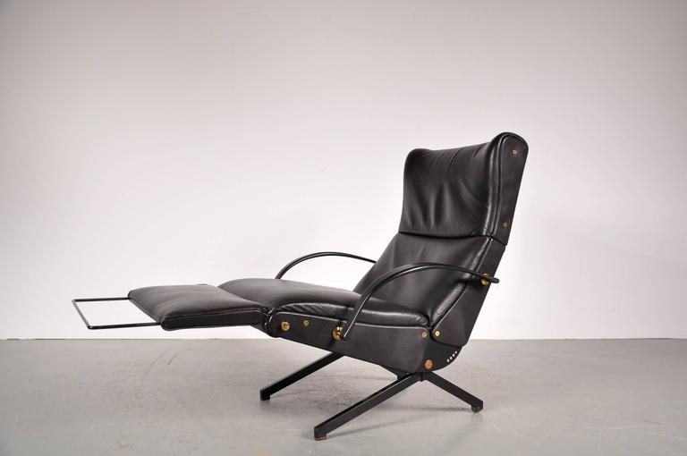 Lounge Chair Model P40 By Osvaldo Borsani For Tecno Italy