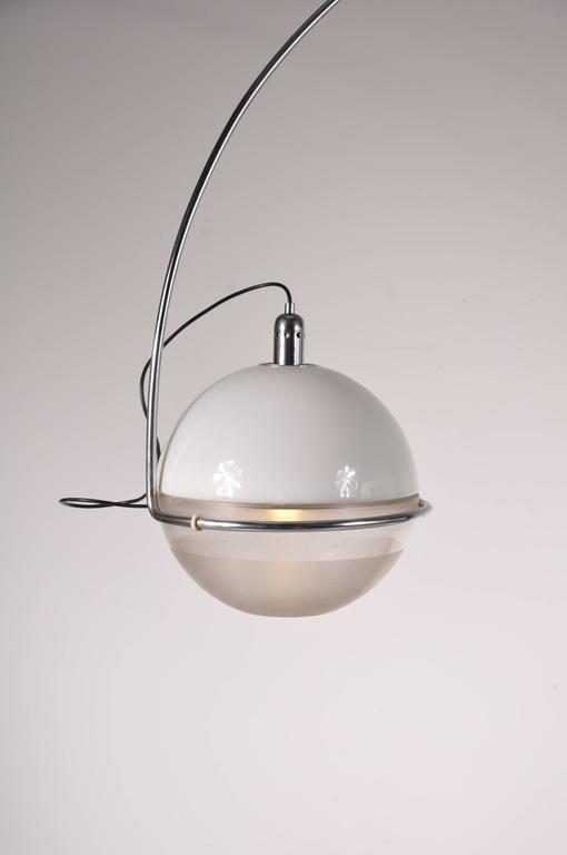 "Mid-Century Modern ""Focus"" Arc Lamp by Fabio Lenci for Guzzini, Italy, circa 1960 For Sale"