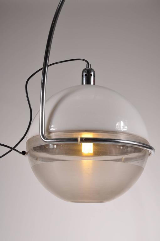 "Italian ""Focus"" Arc Lamp by Fabio Lenci for Guzzini, Italy, circa 1960 For Sale"