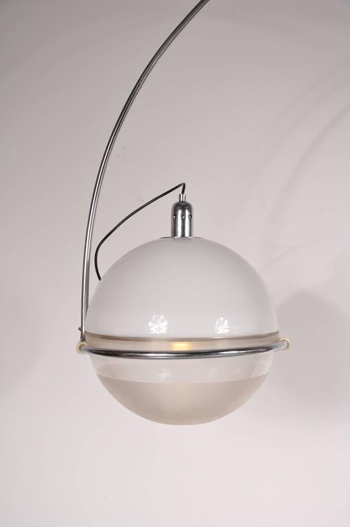 "Mid-20th Century ""Focus"" Arc Lamp by Fabio Lenci for Guzzini, Italy, circa 1960 For Sale"