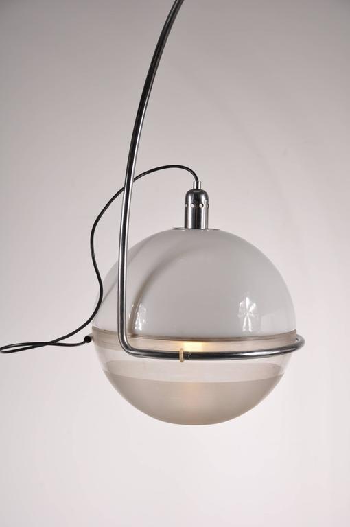 "Metal ""Focus"" Arc Lamp by Fabio Lenci for Guzzini, Italy, circa 1960 For Sale"
