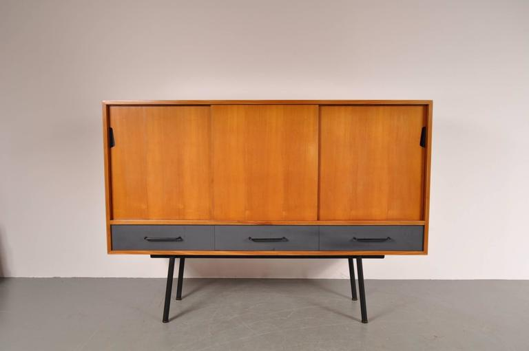 "Highboard Model ""102"" by Janine Abraham for Meubles TV, France, 1952 3"