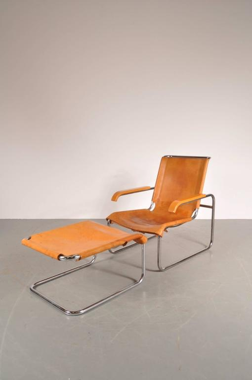 B35 Lounge Chair And Ottoman By Marcel Breuer For Thonet