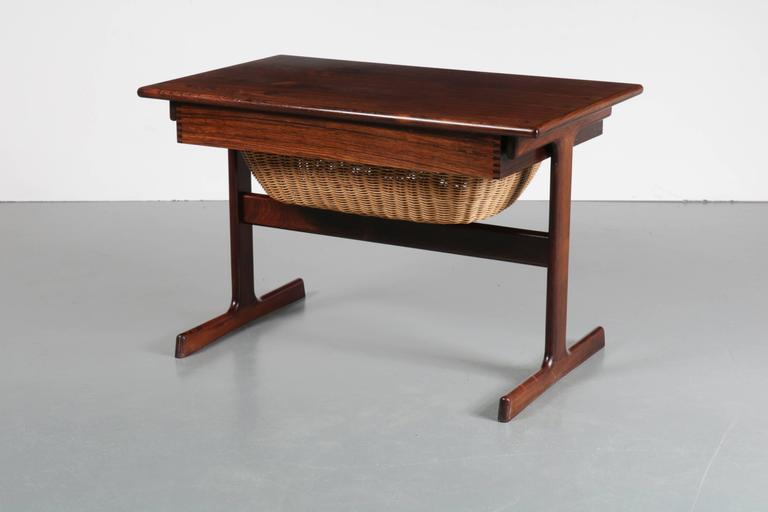 Sewing Box By Kai Kristiansen For Vildbjerg Møbelfabrik, Denmark, 1950 2