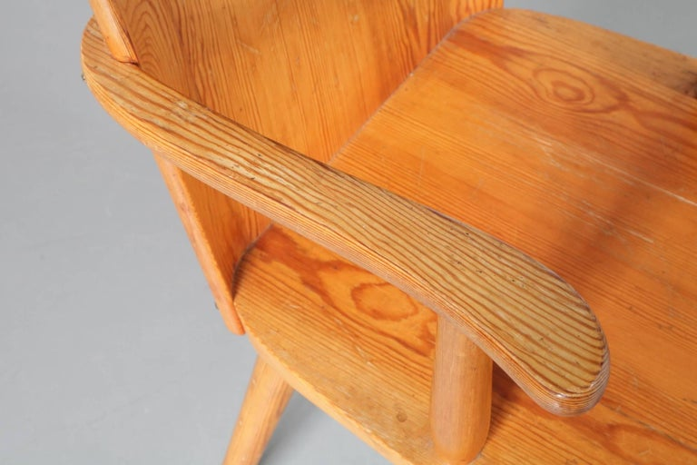 Pine Chair Model 510 by Goran Malmvall for Karl Andersson & Son, Denmark, 1930-1940 For Sale