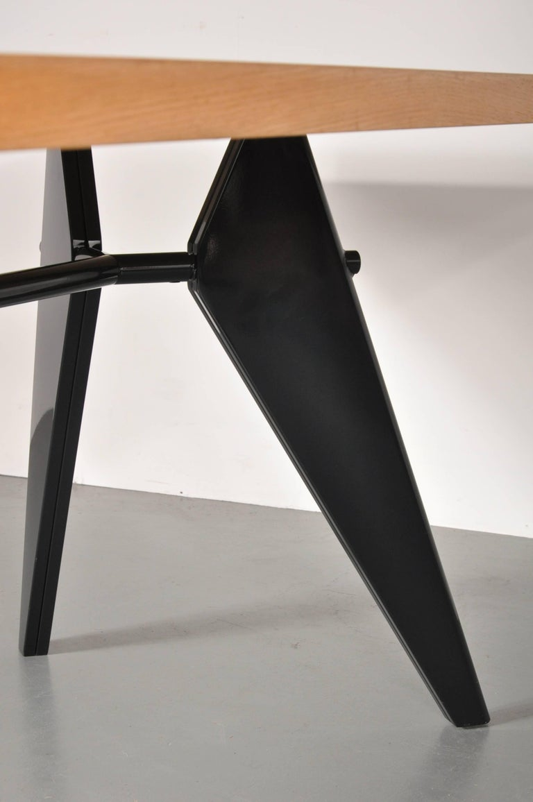 Mid-Century Modern Dining Table by Jean Prouvé, Produced by Vitra in Germany, 2002 For Sale
