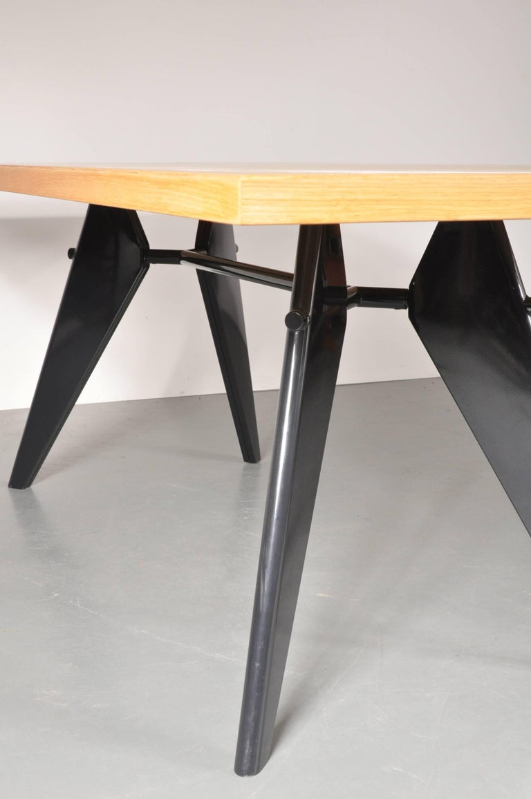 Lacquered Dining Table by Jean Prouvé, Produced by Vitra in Germany, 2002 For Sale