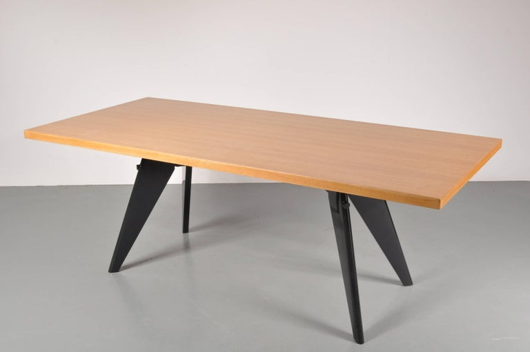 Wood Dining Table by Jean Prouvé, Produced by Vitra in Germany, 2002 For Sale