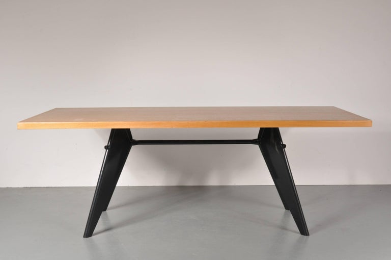 Dining Table by Jean Prouvé, Produced by Vitra in Germany, 2002 For Sale 1
