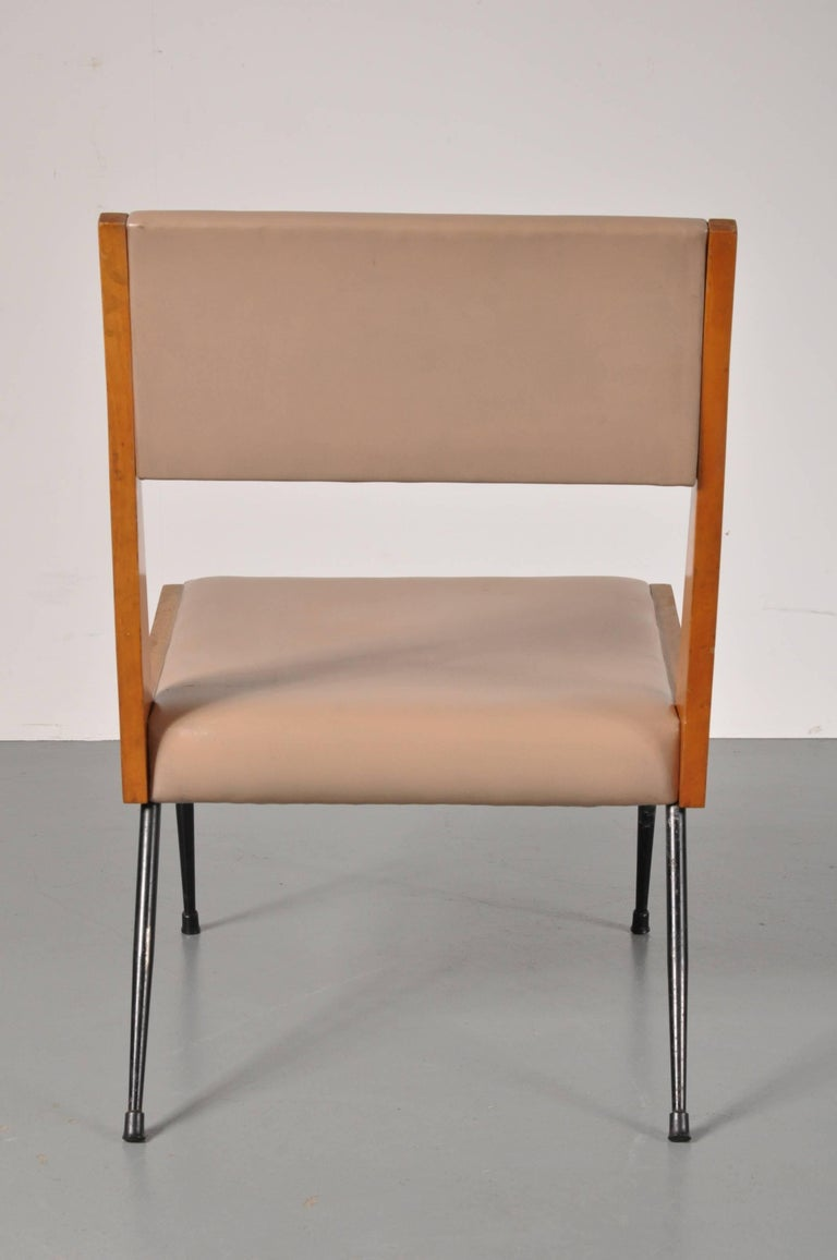 20th Century Carlo di Carli attributed Easy Chair, Italy, 1950s For Sale