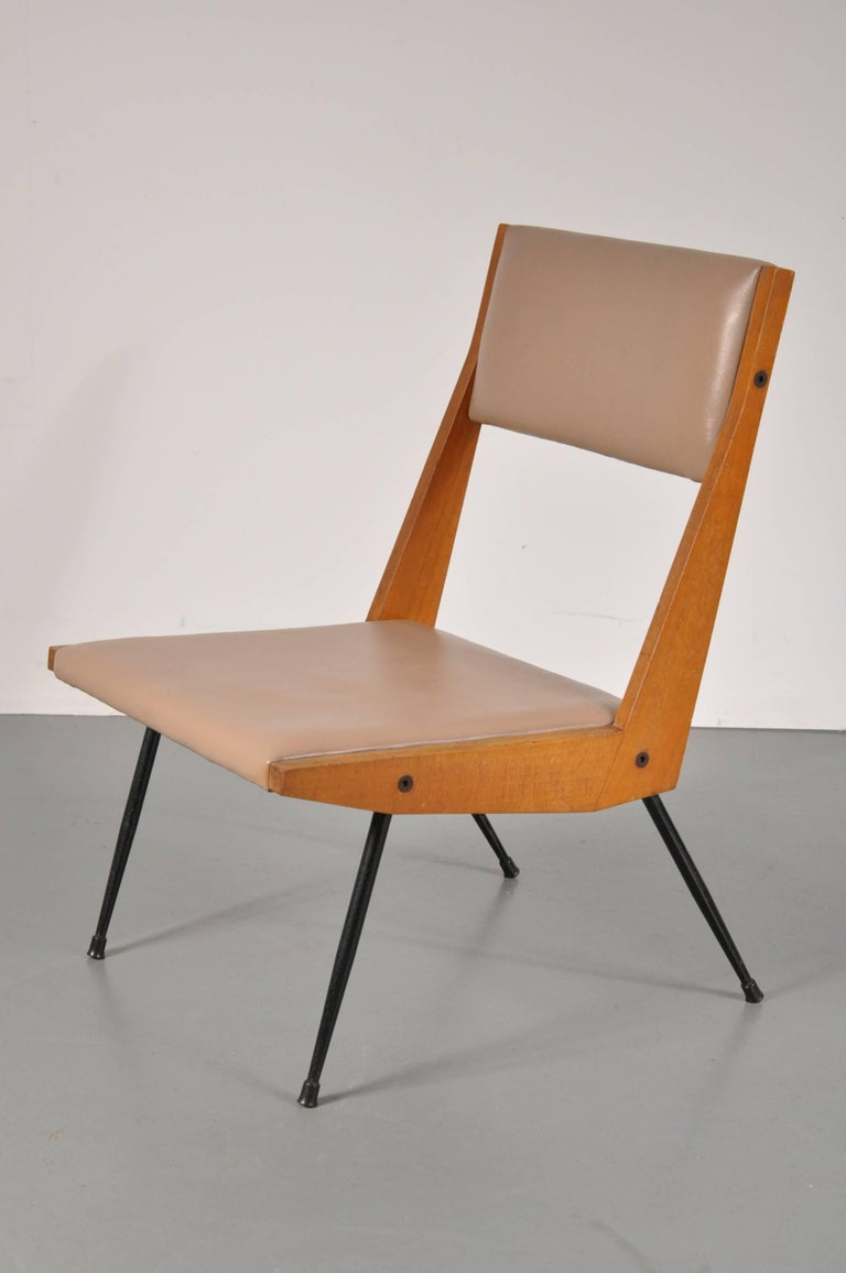 Mid-Century Modern Carlo di Carli attributed Easy Chair, Italy, 1950s For Sale