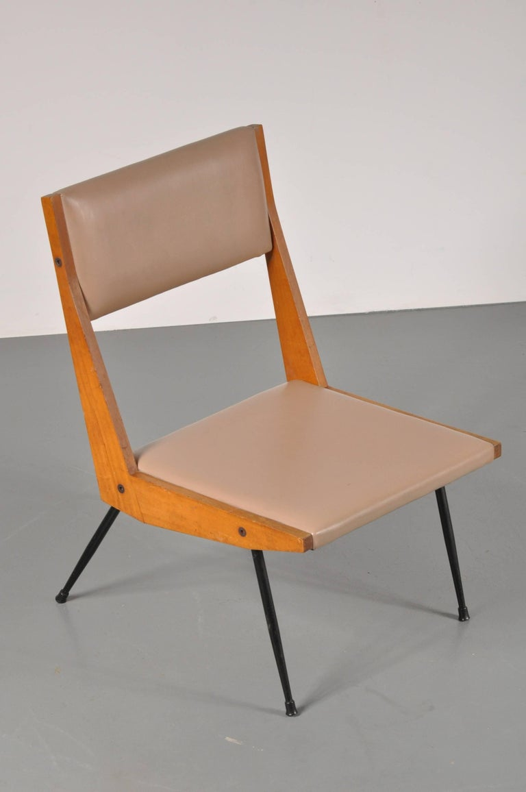 Italian Carlo di Carli attributed Easy Chair, Italy, 1950s For Sale