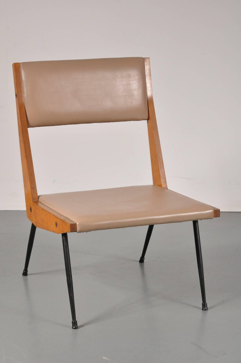Carlo di Carli attributed Easy Chair, Italy, 1950s In Good Condition For Sale In Amsterdam, NL