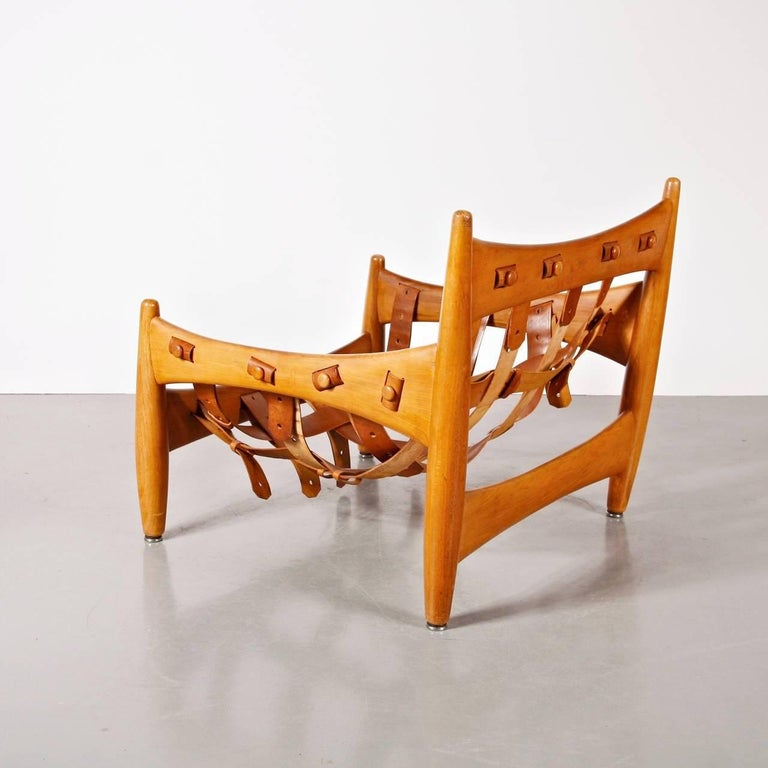 Sergio Rodrigues Sheriff Chair for ISA Bergamo, Italy, 1960 For Sale 1
