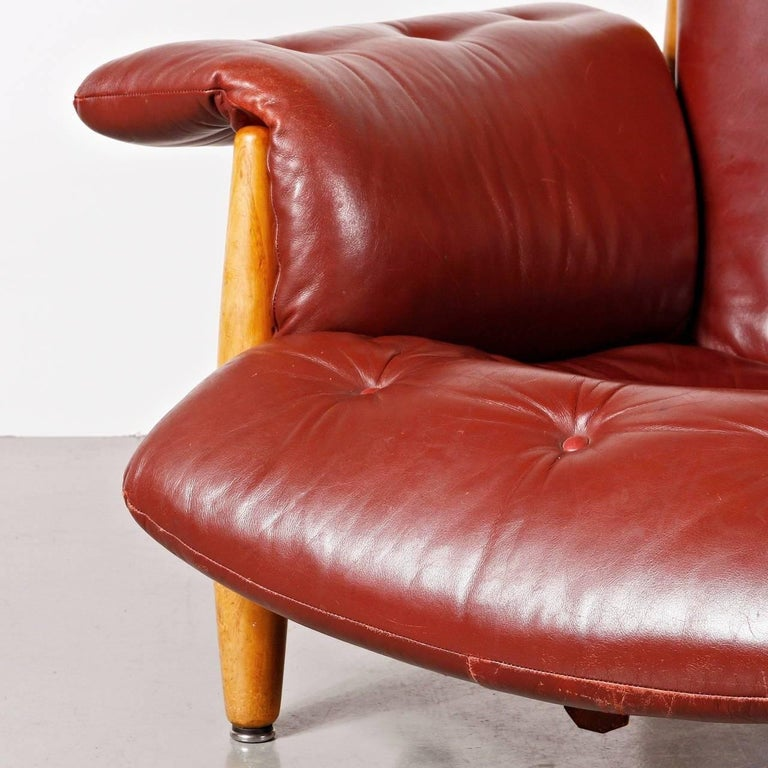 Sergio Rodrigues Sheriff Chair for ISA Bergamo, Italy, 1960 In Good Condition For Sale In Amsterdam, NL