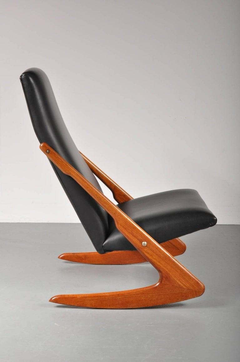 Mogens Kold Boomerang Rocking Chair Denmark 1960 For