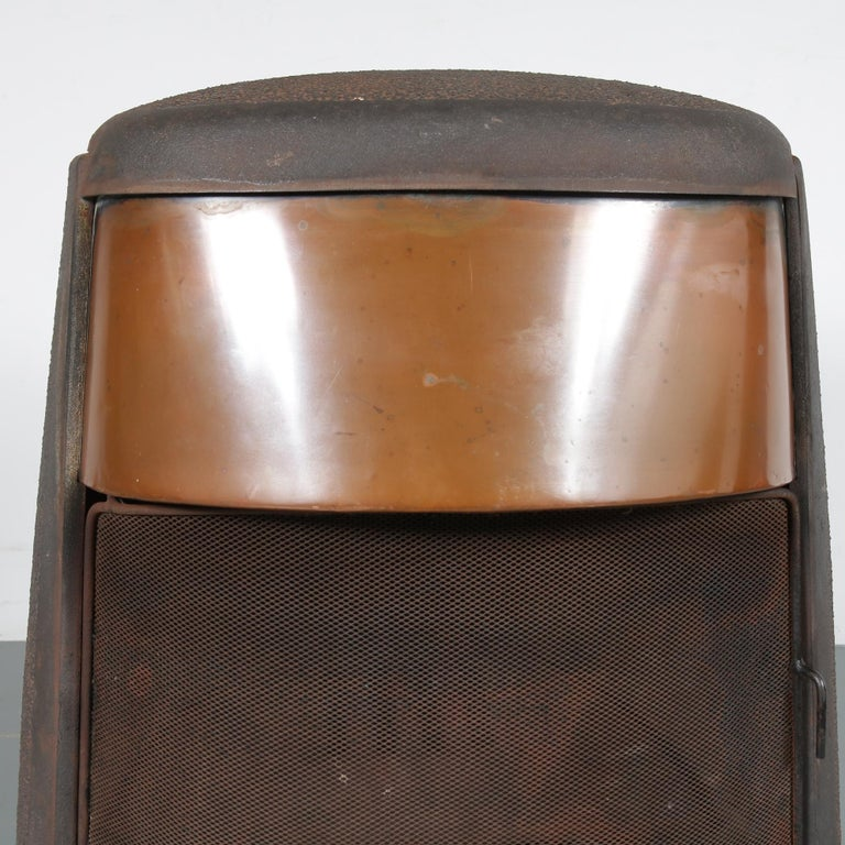 Mid-Century Modern Ulefos Cast Iron Wood Burning Stove