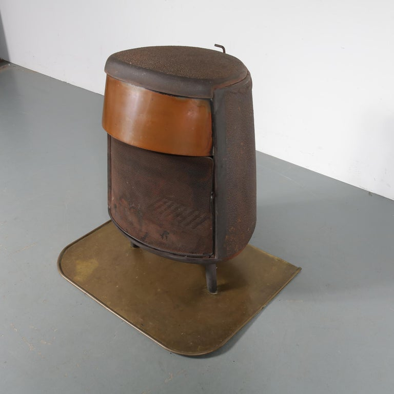 Norwegian Ulefos Cast Iron Wood Burning Stove