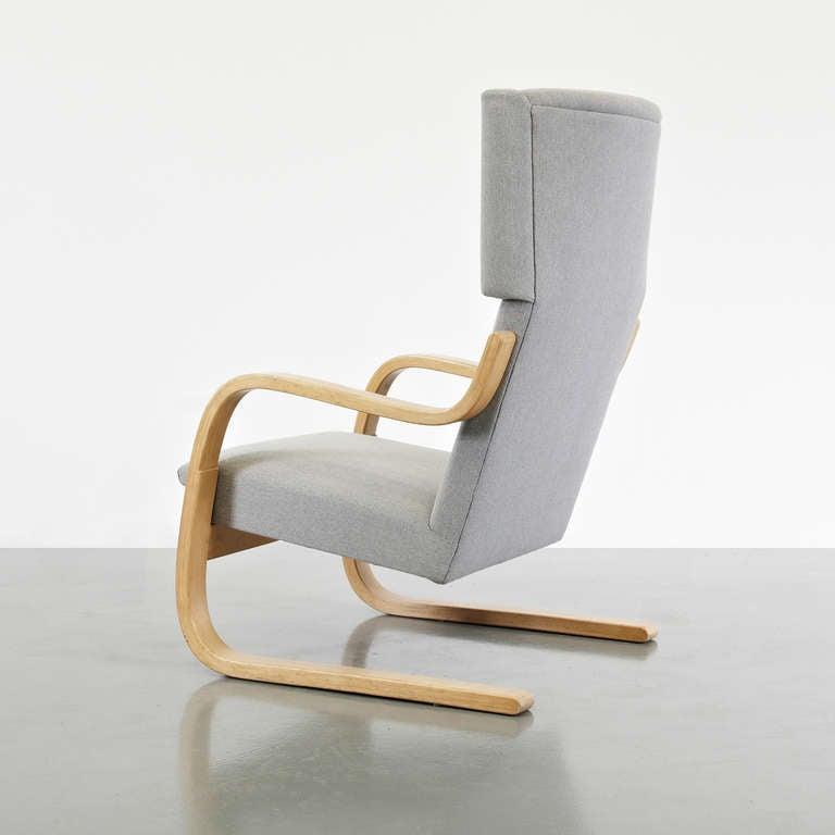 Finnish Alvar Aalto Wingback Lounge Chair, circa 1950 For Sale