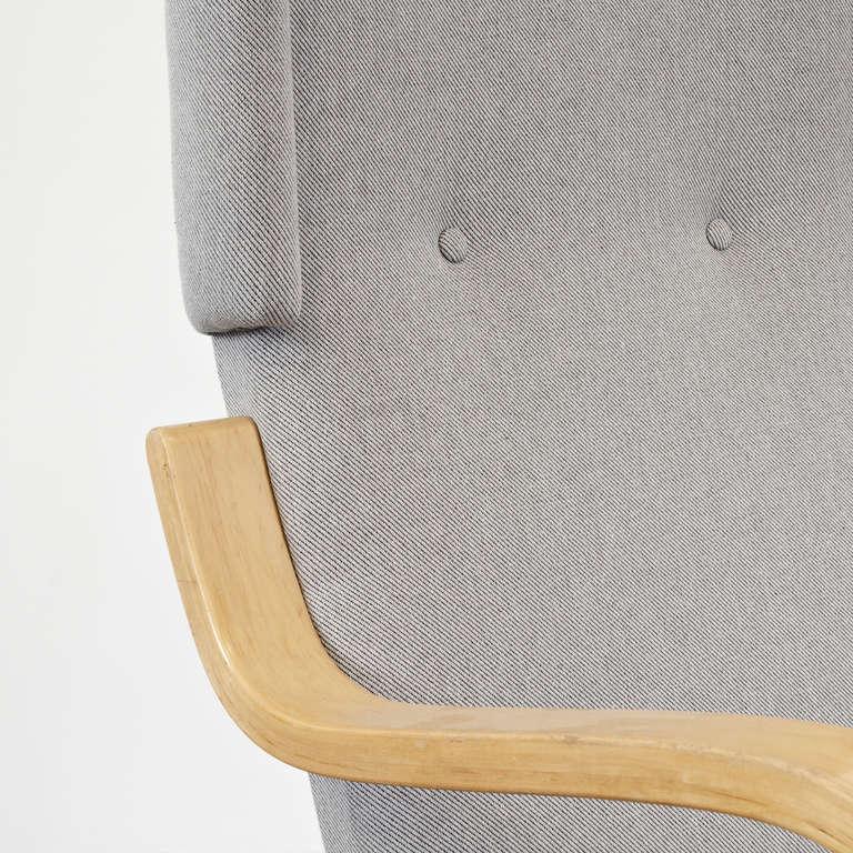Mid-20th Century Alvar Aalto Wingback Lounge Chair, circa 1950 For Sale
