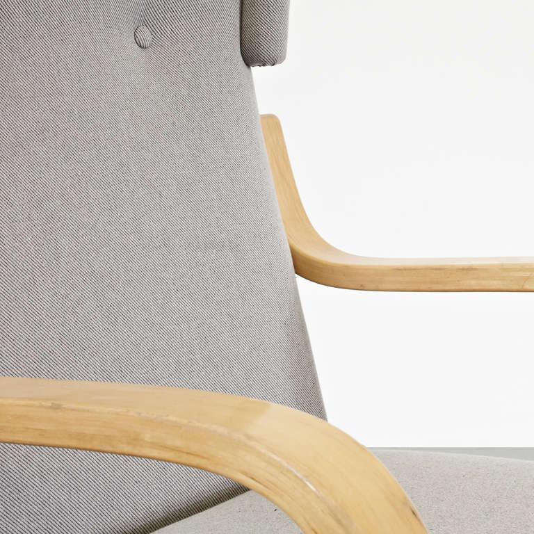 Alvar Aalto Wingback Lounge Chair, circa 1950 For Sale 1