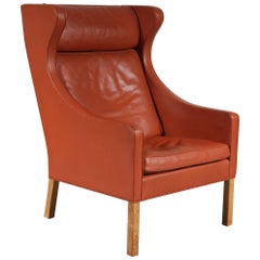 Børge Mogensen Wingback Chair for Fredericia, Denmark, 1960