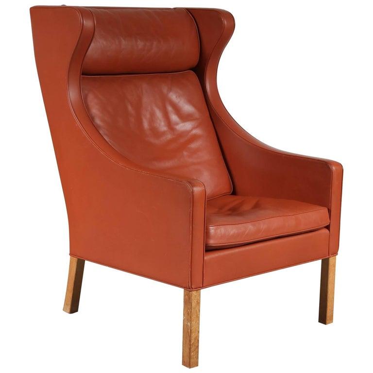 Børge Mogensen Wingback Chair for Fredericia, Denmark, 1960