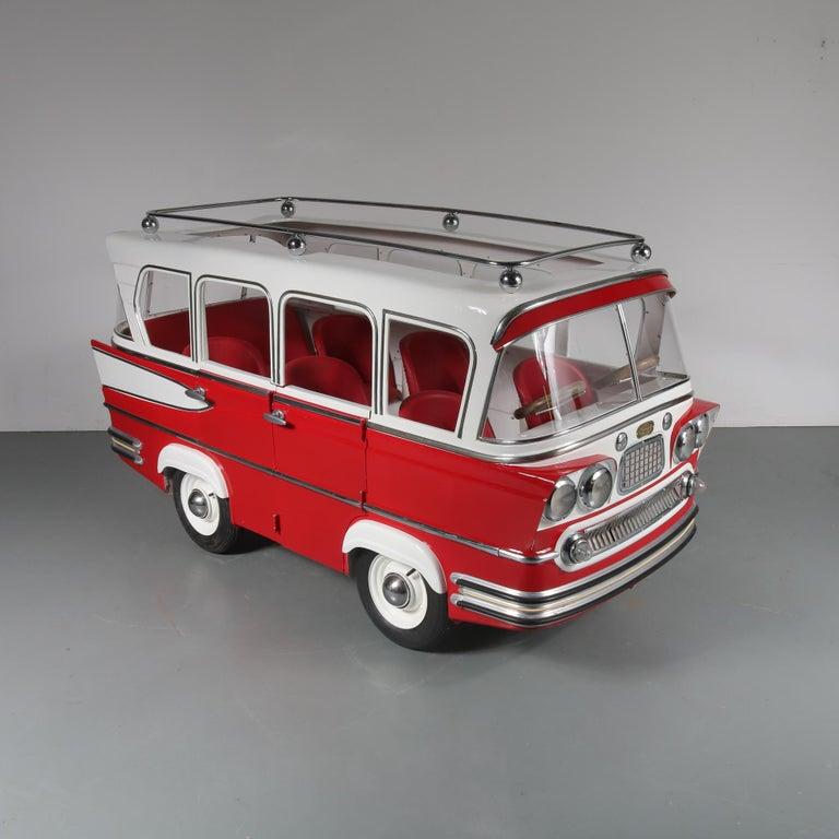 Mid-Century Modern Rare l'Autopede Carousel Bus by Karel Baeyens, Belgium, 1955 For Sale